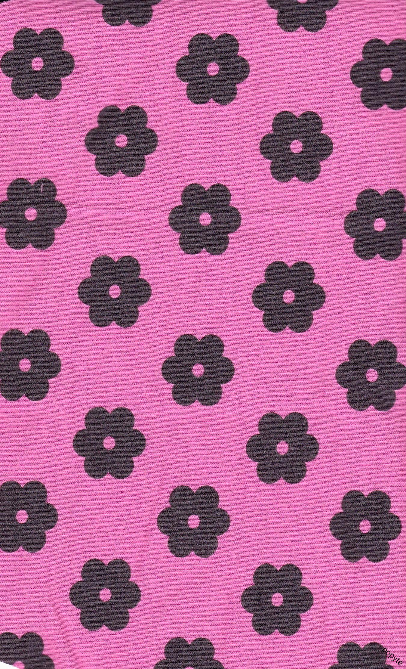67d1ee9ab641 Šedé kytičky na ružové